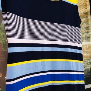 Spense Horizontal Striped Maxi Jersey Dress